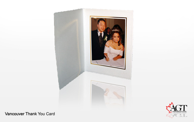 wedding thank you cards with photo insert